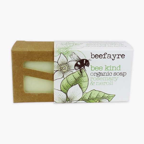 Beefayre Bee Kind Organic Soap Rosemary & Neroil