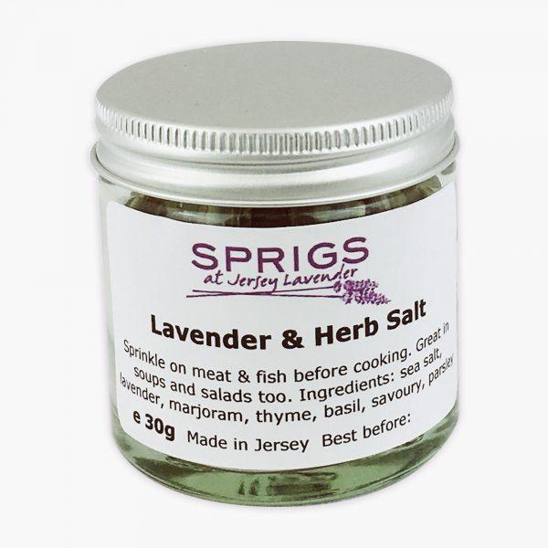 Sprigs Lavender and Herb Salt