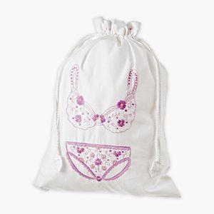 Jersey Lavender Lingerie Bag